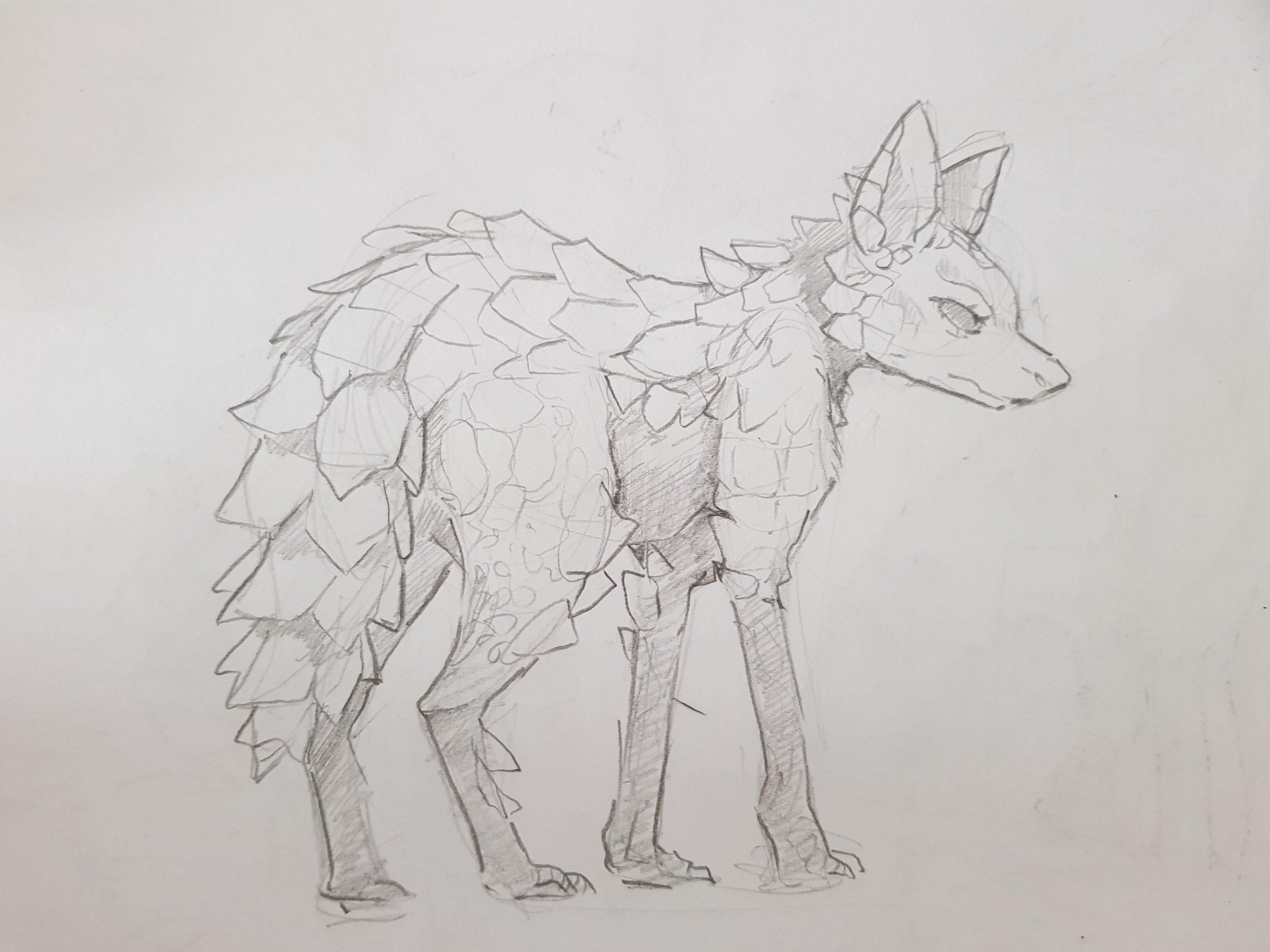 André (Eish) – Hybride Loup à crinière et Ouroborus cataphractus